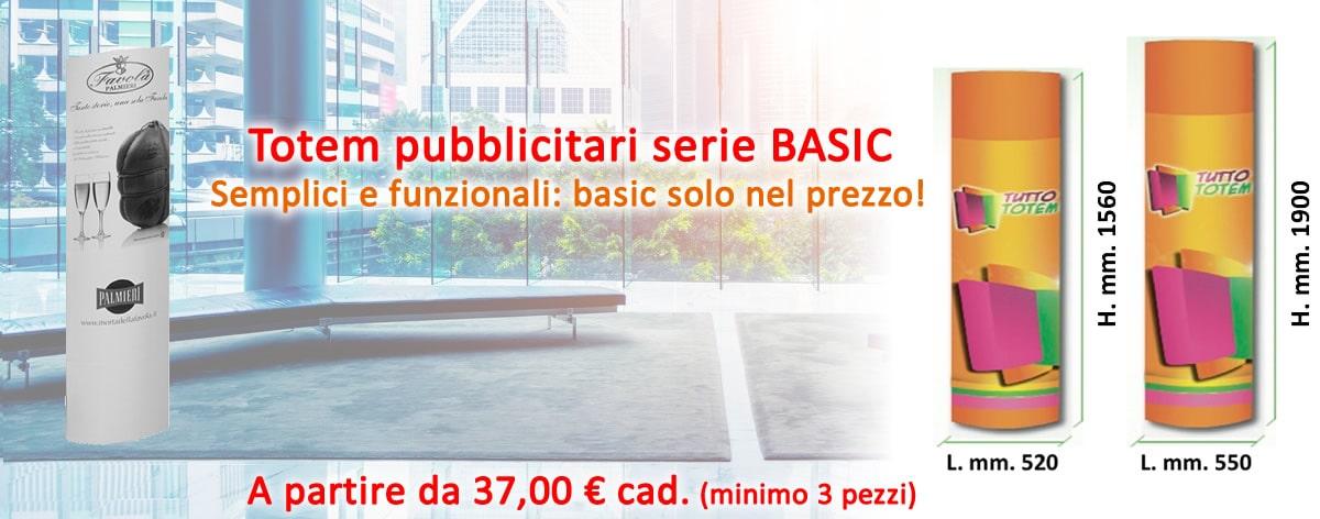 Promo Totem serie BASIC da terra Tuttototem.it