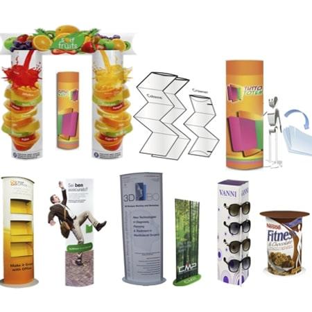 Showroom Totem ed espositori commerciali per la promozione aziendale